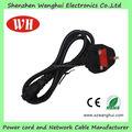 Reino unido / HK / malasia / singapur 3 Pin de alimentación de ca enchufe del cable de cables de alimentación