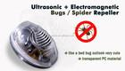 Ultrasonic& electromagnética pest repeller controle de bugs aranha defletor