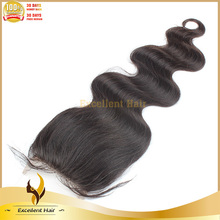 Wholesale free style(can be made into any part)top closure body wave human virgin brazilian hair lace closure bleached knots