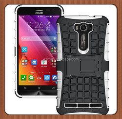 Tire Style Tough Rugged Dual Layer Hybrid Kick Stand Case for ASUS Zenfone 2 Laser ZE600KL Kickstand Slim Armor Duty Case