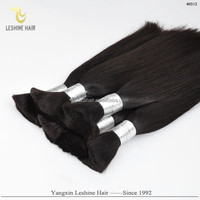2015 Hot Selling Golden Supplier Best Quality No Tangle Full Cuticle Unprocessed Dyeable 100% Human hair bulk vietnam