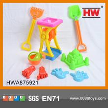 9 PCS Funny Plastic Summer Beach Games Mini Sand Castle Molds Toy