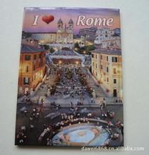 tourist Custom Promotional crafts tinplate fridge magnet
