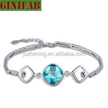 925 sterling silver bracelet for women big light blue style 2015 new Fashion jewelry