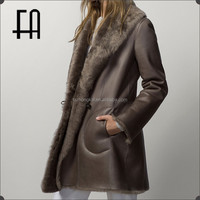 Factory directly wholesale price Toscana sheep fur leather coat