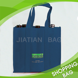 Heat Transfer Printing Durable Promotion Non Woven 6 Bottle Wine Tote Bag
