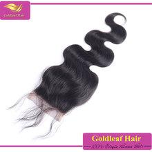 gold supplier wholesale 100% virgin brazilian hair free part closure and bundles