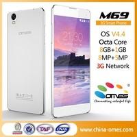 M69 OEM Metal Body New Slim 6 inch Big Touch Screen Mobile Phone