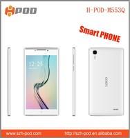 cheapest 5.5'' three sim cards smart phone 6582 gps flashlight torch