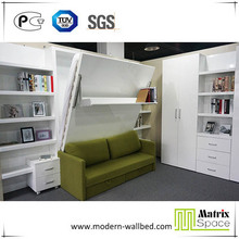 Folding Wall Bed,Hidden Wall Bed,Murphy Bed With Sofa