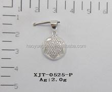 wholesale latest design pendant,white stud pendant,CZ star shape pendant