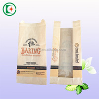 Cheap price recycle brown bread paper bags with printing