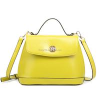 Europe famous design ladies handbag tote genuine leather handbag for women