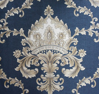 2015 New Simple European Style Vinyl Wallpaper/ Damask Pvc Wallcovering/Modern Classical Wallpaper