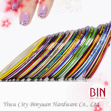 DIY nail tips rolls striping tape line nail art decoration stickers