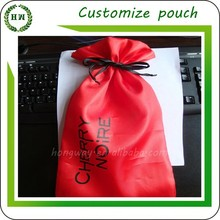 Hongway Customize logo and size satin pouch, polyester bag