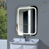 2014 luxurious wall mounted salon mirror with light