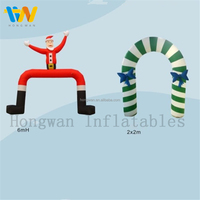 new christmas decorations 2015 Inflatable christmas arches inflatable santa claus/crutch arch