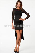 slim fit de manga larga nueva moda vestido de las señoras