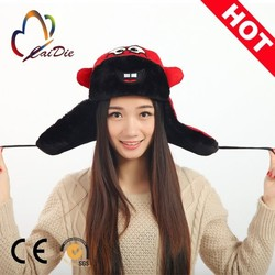 New Fashion Customize 100% cotton Customized Cap, ear muffs for women