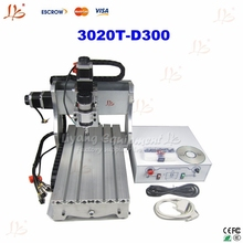 High accuracy 3 axis cnc engraving machine 3020T-D300 CNC router with price competive