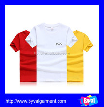 100% cotton short sleeve t shirt wholesale custom t shirt with your logo