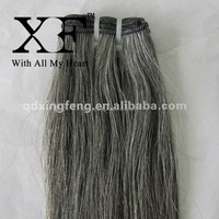 Hot Selling Products Latest Style Natural Straight Gray Mongolian Virgin Remy Human Hair Extensions