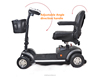 ce 2 seats electric motorcycle sport mobility scooter mobility scooters for the disabled