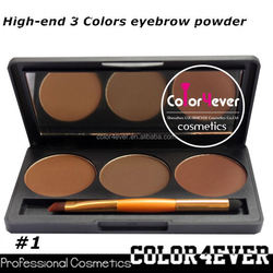 Professional eye makeup palettes 3color Makeup factory Eyebrow Palette cosmetics packaging