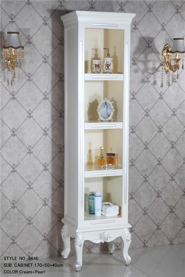 custom solid wood bathroom corner cabinet