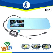 4.3inch full 1080P HD one second startup wifi digital 2.4G wireless auto DVR rearview mirror car camera