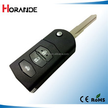 good price car folding key shell for mazda flip remote key cover m2 m3 m5 m6 2 button key shell