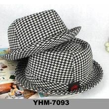 Summer stylish man children's cotton jazz hat with curled brim wholesale