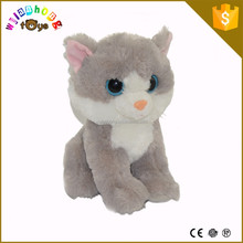 2015 promotional cute cat plush toy free sample