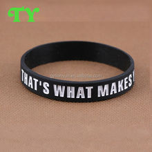 fashion Ink filled silicone bracelet for Memorial