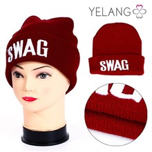 Winter Red Blank Knitted Hat and Cap / Woman and man Winter Cap