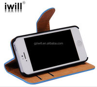 Manufacturer ODM 2014 promotional PU wallet leather cell phone case cover for iphone5 5s