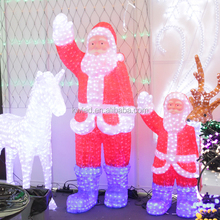 3D motify Christmas decoration led light santa claus and Deers