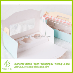 Custom Mini 2, 3, 4, Count Pack Paper Cupcake Packaging Boxes and Inserts with Handle and Clear Winow