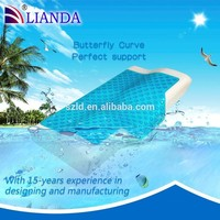 2015 new product as seen TV Alibaba China gold supplier wholesale factory butterfly cool gel pillow eco-friendly CE certificate