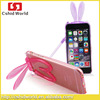 4.7 3D Bunny Rabbit TPU Soft Silicone Case For iphone 6/6 plus 5.5 inch Cartoon cell Phone back cover Ear Stand Holder