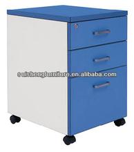 wooden 4 drawer mobile pedestal