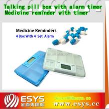 Talking medicine reminders with alarm timer
