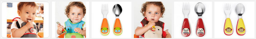 BPA бесплатно маленький ребенок зоопарк вилка & ложка посуда набор 5 животных конструкции милый возраст 12m