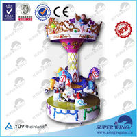 Angel Carousel amusement arcade colorful small carousel for sale