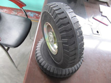 Solid rubber Wheel 10x2.75 with steel hub for hand trolly America