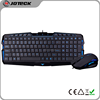 Multimedia wired ultra-thin backlit keyboard mouse combo for office----JMK03