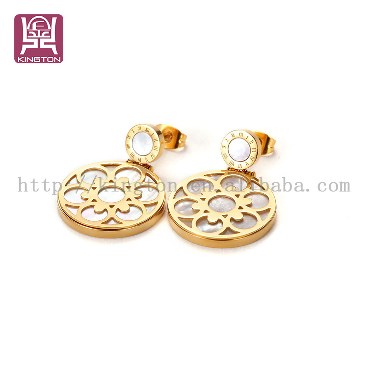 indian gold hanging earrings designs for girls view gold
