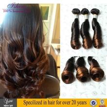 7a Spiral Curl 100% human Ombre Braiding Hair, Unprocessed Ombre Bundles Hair Weaves