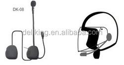 motorcycle helmet bluetooth headset intercom support fm radio/GPS connection